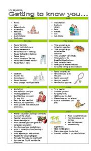 English Worksheet: ICEBREAKER FOR YOUNG LEARNERS AND ADULTS