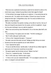 English Worksheets: the clever sailor