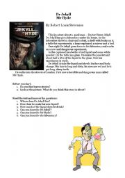 English Worksheet: Dr. Jekyll and Mr. Hyde