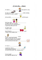 English Worksheet: If I were a boy - Beyonce lyric