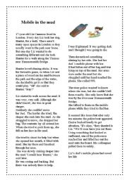English Worksheets: Mobile in the mud