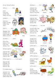 English Worksheets: comparatives