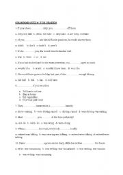 English Worksheet: test for sbs