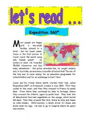 English Worksheets: expedition 360�