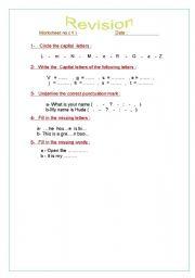English worksheet: letters