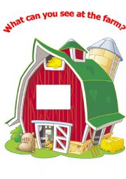 English Worksheet: What can you see at the farm? Part1/2