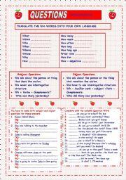 Questions Words (intermediate)