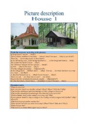 English Worksheet: Picture description - Home 1