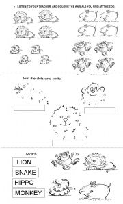 Let´s go to the zoo! - ESL worksheet by flawal
