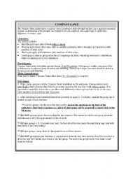English Worksheets: Compass Points