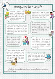 English Worksheet: Computer in our life