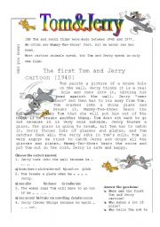 English Worksheets: Tom&Jerry