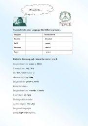 English Worksheets: IMAGINE...