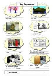 English Worksheets: Key expressions
