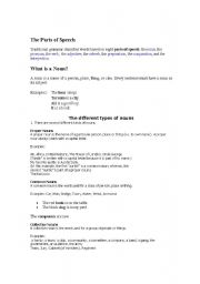 English Worksheets: Types of Noun