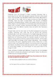 English Worksheets: SKIN ART