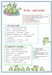 English Worksheets: Aan and some