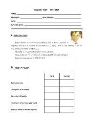 English Worksheets: Identifying