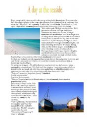 English Worksheet: A day at the seaside