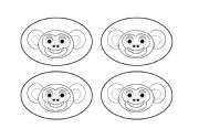 English Worksheets: Monkey Cards Black and White (Add your own text.) Use them with my monkey gameboard.
