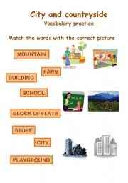English Worksheet: City and countryside vocabulary practice