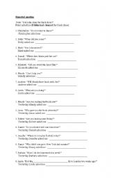English Worksheets: reported question