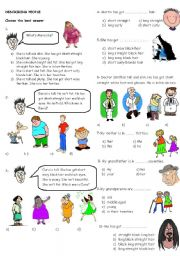 English Worksheets: describing people 1