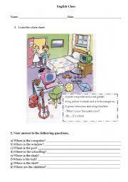 English Worksheets: Colors chant
