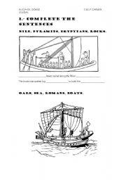 English Worksheets: sailing