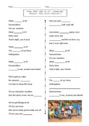English Worksheet: What time is it?  High School Musical