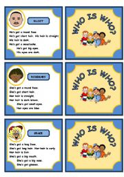 English Worksheets: WHO IS WHO? - GAME (PART 2)