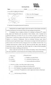 English Worksheets: Knowing Britain