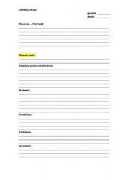 English Worksheets: annual plan