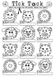 English Worksheet: Tick_Tock