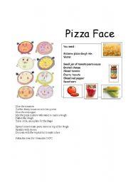 English worksheet: Make a Pizza Face