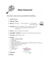 English Worksheets: Writing / Revising a Text