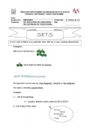 English Worksheets: SETS