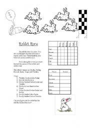 English Worksheets: Rabbit Race