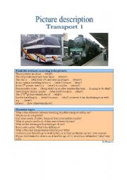 English Worksheet: Picture description - Transport 1