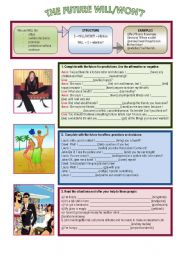 English Worksheet: The future simple: will/won´t