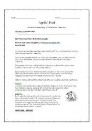 English Worksheets: April�s Fool activity