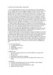 English Worksheets: A WIMBLEDON CHAMPION