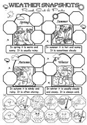 English Worksheet: Weather snapshots (2,3/3)