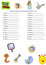 English Worksheets: plurals with �s� or �es�