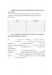 Printables Criminal Law Worksheets english worksheet civil vs criminal law