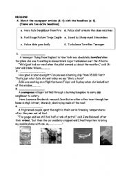 English Worksheets: disasters