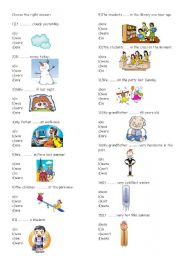 English Worksheet: Past and Present Form of Verb To Be