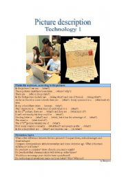 English Worksheet: Picture Description - Technology 1