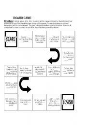 English Worksheet: Board Game