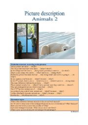 English Worksheets: Picture Description - Animals 2